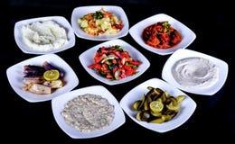 Arabische salade - tomatensalade stock foto's