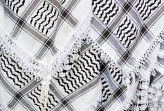 Arabische sjaal, keffiyeh textuurachtergrond Royalty-vrije Stock Fotografie