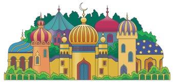 Arabische stad Royalty-vrije Stock Afbeeldingen