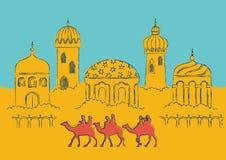 Arabische stad Royalty-vrije Stock Foto's