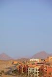 Arabische Stadt in der Wüste. Lizenzfreie Stockfotografie