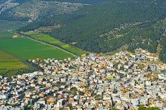 Arabische Stadt in Jezreel-Tal Stockfotografie