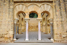Arabische Stadt von Medina Azahara, Cordoba, Andalusien, Spanien Stockfotografie