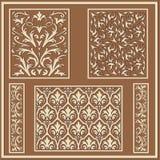Arabische stijl bloemenpatronen Royalty-vrije Stock Afbeeldingen