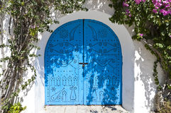 Arabische stijldeur Stock Foto's