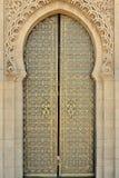 Arabische Tür im Mausoleum Mohamed 5 Lizenzfreies Stockfoto
