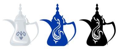 Arabische Theepotten & Silhouetten 1 Stock Afbeeldingen