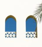 Arabische vensters Stock Afbeelding