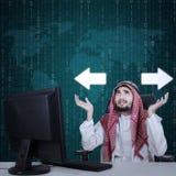 Arabische verwarde zakenman Stock Afbeelding