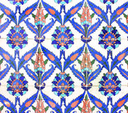 Arabische Verzierung auf Keramikfliesen stockfoto