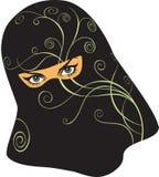 Arabische vrouw in een sluier Royalty-vrije Stock Afbeelding