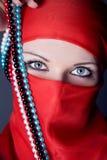 Arabische vrouwenclose-up Stock Foto