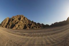 Arabische Wüste in Ägypten-sharm EL-shiekh lizenzfreie stockfotos
