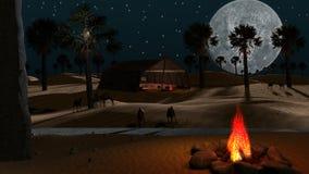 Arabische woestijn stock illustratie
