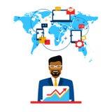 Arabische zakenman en internationale samenwerking stock illustratie