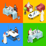 Arabische Zakenman Isometric People Royalty-vrije Stock Foto