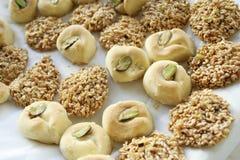 Arabische zoete gebakjes Royalty-vrije Stock Afbeeldingen