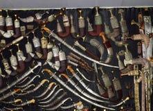 Arabischer antiker Dolch Khanjar-Sammlung Stockbilder
