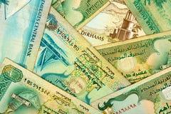 Arabischer Geldhintergrund. Stockfotografie