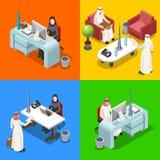 Arabischer Geschäftsmann Isometric People Lizenzfreies Stockfoto