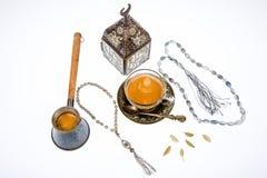 Arabischer Kaffee im Studio Lizenzfreie Stockfotografie