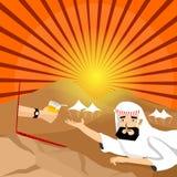 Arabischer Mann erhalten durstig Lizenzfreie Stockfotos