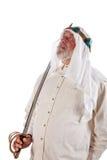 Arabischer Mann mit einer Klinge Lizenzfreie Stockfotos