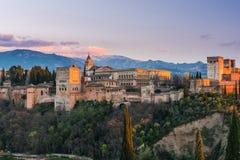 Arabischer Palast Alhambra in Granada, Spanien Lizenzfreie Stockbilder