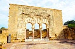 Arabischer Palast von Medina Azahara, das Haus von Yafar, Cordoba, Andalusien, Spanien Lizenzfreie Stockbilder