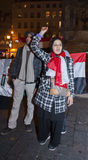 Arabischer Protest, Ägypter, die gegen Mil demonstrieren Lizenzfreie Stockfotografie