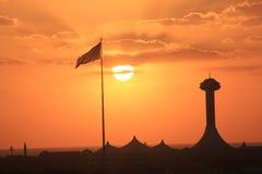 Arabischer Sonnenuntergang Lizenzfreie Stockfotos