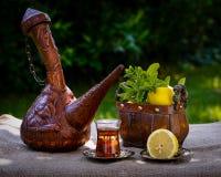 Arabischer tadelloser Tee Stockfotografie