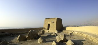 Arabisches Fort in den Khaimah-Araber-Emiräten Lizenzfreie Stockfotos