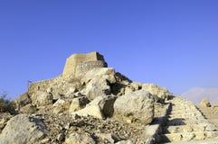 Arabisches Fort in den Khaimah-Araber-Emiräten lizenzfreies stockbild