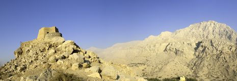 Arabisches Fort in den Khaimah-Araber-Emiräten Lizenzfreies Stockfoto