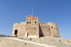 Arabisches Fort in Fujairah Stockbilder