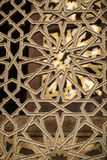 Arabisches islamisches Muster-Hintergrundfenster der Moschee stockfotografie