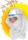 Arabisches Mädchen lizenzfreie abbildung