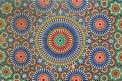 Arabisches Mosaik in Marrakesch Stockfoto