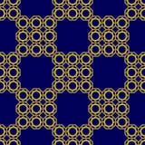 Arabisches nahtloses Muster Islamischer geometrischer Hintergrund Dekoratives Design der Luxusostschablone Endloser Wiederholungs lizenzfreie abbildung