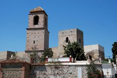 Arabisches Schloss, Alora, Andalusien, Spanien Stockbild