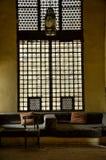 Arabisches stilvolles Innenfenster Marokkos Lizenzfreies Stockbild