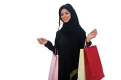 Arabisches weibliches Einkaufen Stockbilder
