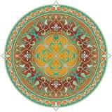 arabisk blom- motivmodell royaltyfri illustrationer