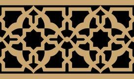 Arabisk blom- sömlös gräns royaltyfri illustrationer