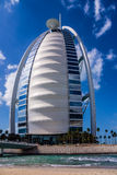 Arabisk Burj Al, segla-format hotell Arkivbilder