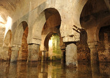 Arabisk cistern, Caceres, Spanien Arkivbild