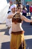 Arabisk dansare arkivbild