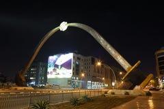 arabisk dolkdoha monument qatar Arkivbilder
