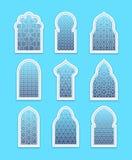 Arabisk eller islamisk fönsteruppsättning Royaltyfria Foton